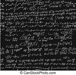 Blackboard With A Math Calculation. - Blackboard with a math...