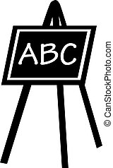 Blackboard with ABC letters