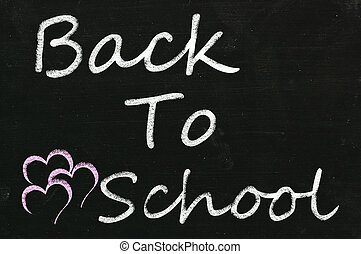 blackboard with back to school word