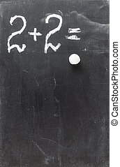 blackboard with digits