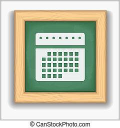 Blackboard with icon of a calendar