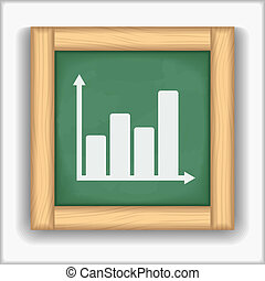 Blackboard with icon of a chart