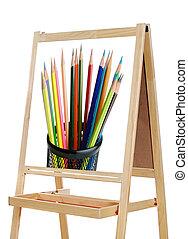 blackboard with image of pencils