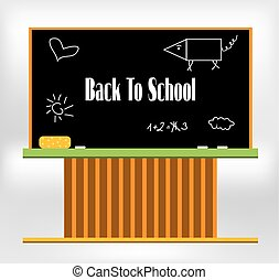 Blackboard with text Back to school