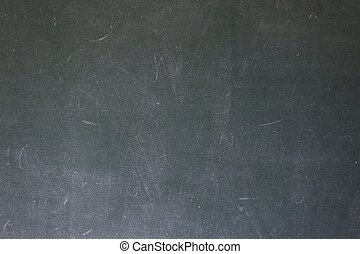 Blackboard with the first letters of the alphabet written on it