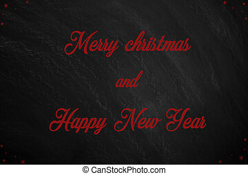 Blackboard with the message merry christmas anda happy new year