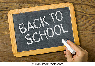 Blackboard with the text Back to school