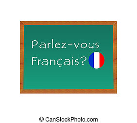 Do you speak French - Blackboard with the text Do you speak ...