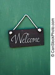 blackboard with the words welcome