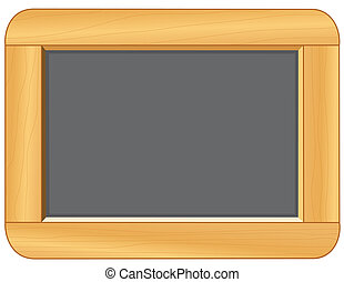 Blackboard with Wood Frame - Blackboard with wood frame,...