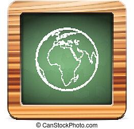 blackboard world globe