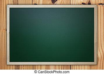 Blackboard/Chalkboard on Wooden Background