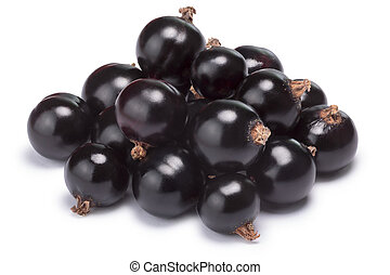 Blackcurrant pile (Ribes Nigrum), clipping paths