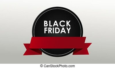Blackfriday emblem HD animation - Black friday emblem with...