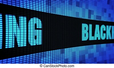 Blackhat Marketing Side Text Scrolling LED Wall Pannel...