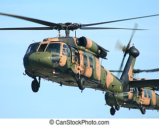 Blackhawk Choppers - Two Australian Army Blackhawk choppers...