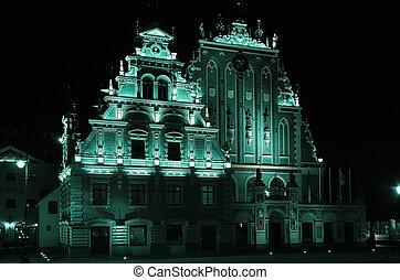Blackheads House in Riga - Restored Blackheads House in the...