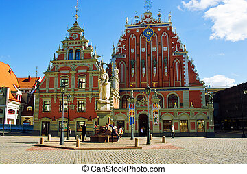 Old house of the blackheads in Riga. Latvia