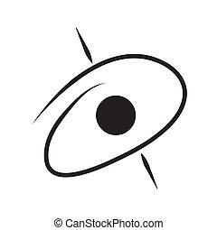 blackhole outline icon. isolated. vector design illustration.