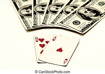 blackjack, 同时, 知道, 作为, 二十一, vingt-et-un