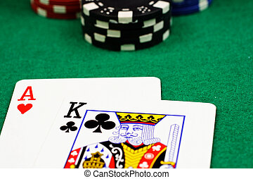 Blackjack Extreme Close Up - A close up of blackjack cards...