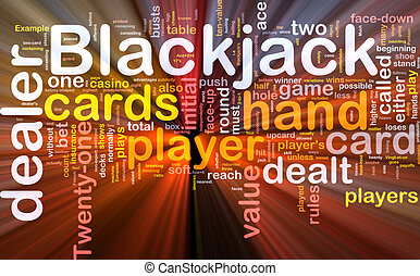 Blackjack game background concept glowing - Background...
