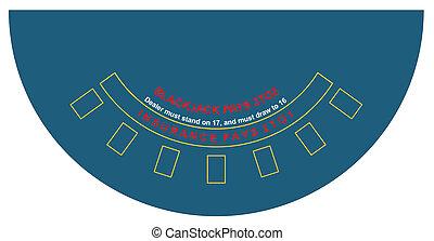 Vector illustration of blackjack table