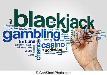 Blackjack word cloud concept