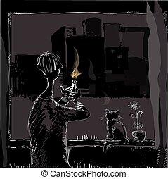 Blackout In City