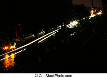 Blackout Street - During the blackout following a large ...