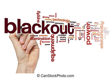 Blackout word cloud