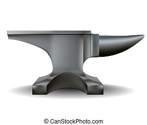 blacksmith anvil in shades of gray on a white background