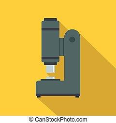 Blacksmith automatic hammer icon, flat style