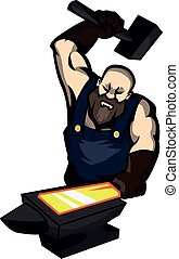Blacksmith design illustration