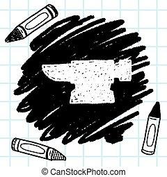 blacksmith doodle
