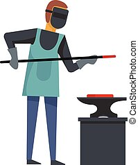 Blacksmith icon, flat style