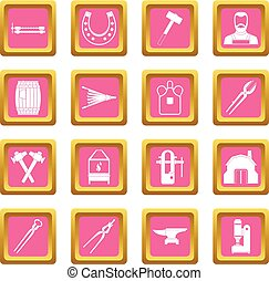 Blacksmith icons pink