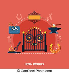 Blacksmith Iron Works Background