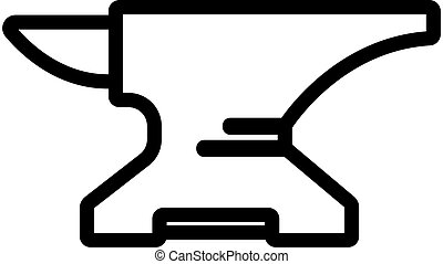 blacksmith is an anvil icon vector. Isolated contour symbol illustration