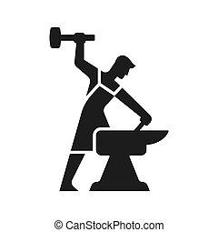 Blacksmith logo silhouette