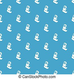 Blacksmith pattern vector seamless blue