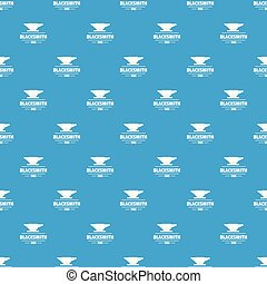 Blacksmith pattern vector seamless blue repeat for any use