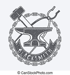 Blacksmith vector illustration