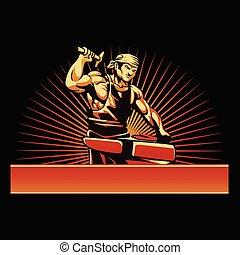 Blacksmith vector illustration.Illustration of a blacksmith...
