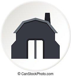 Blacksmith workshop building icon circle