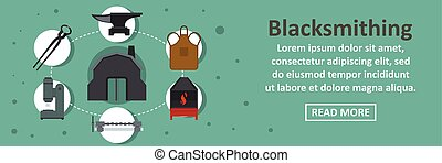 Blacksmithing banner horizontal concept
