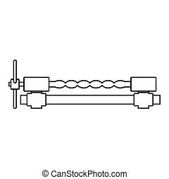 Blacksmiths clamp icon outline