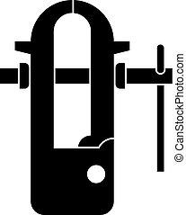 Blacksmiths vice icon simple