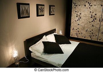 blackwhite, camera letto
