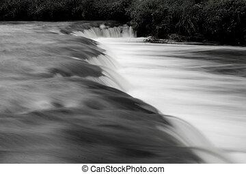 black&white waterfall